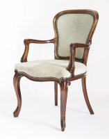 Lot 59 - A Louis XVl-style mahogany elbow chair