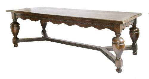 Lot 60 - An oak refectory table