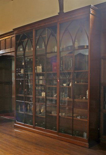 Lot 63 - An unusual George lll large mahogany floor-standing apothecary's cabinet