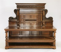 Lot 64 - A Victorian oak three-tier buffet