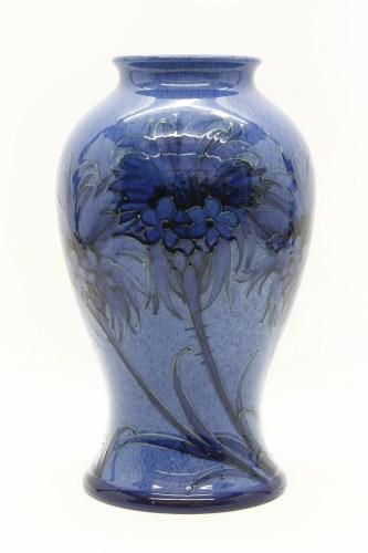 302 - A Moorcroft 'Powder Blue Cornflower' baluster vase