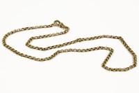 Lot 1026-A gold belcher link neck chain
