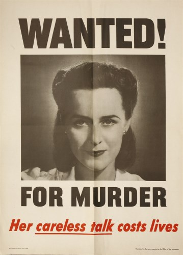103 - 'WANTED! FOR MURDER - Her careless talk costs lives'