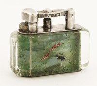 200 - A Dunhill 'Aquarium' table lighter