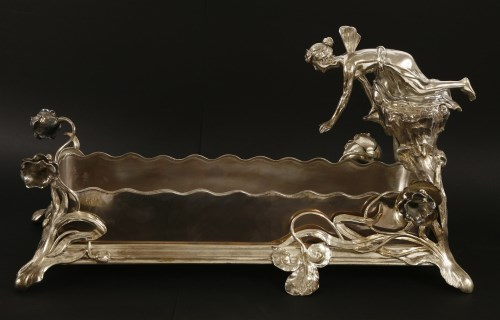 Lot 13-A WMF silver-plated planter