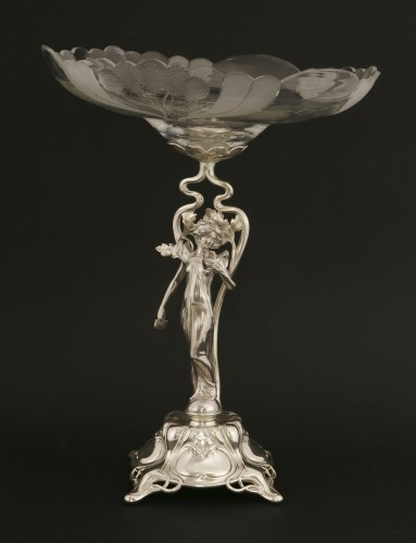 Lot 12-A WMF silver-plated centrepiece