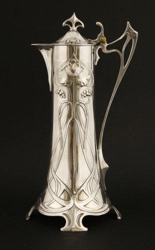 Lot 11-A WMF plated wine jug and cover