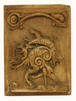 Lot 17-An oak panel