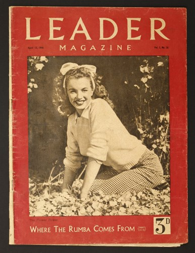 Lot 69-The first Marilyn Monroe magazine cover