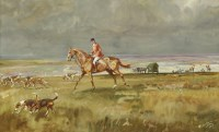Lot 1-*Michael Lyne (1912-1989)  ON THE SCENT  Signed and dated '1947' l.l.