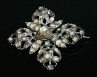 Lot 9-A Georgian jargoon or colourless zircon quatrefoil brooch