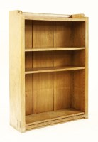 Lot 47-A Robert 'Mouseman' Thompson oak open bookcase