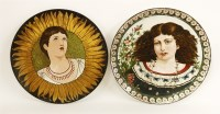 Lot 34-Two pottery chargers