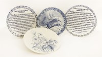 Lot 36-Four painted plates