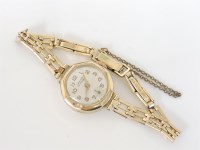 Lot 15 - A 9ct gold ladies Lanco mechanical watch