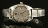 Lot 75 - A ladies' stainless steel Omega megaquartz 32 KHz Geneve strap watch