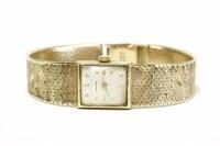 Lot 30 - A ladies 9ct gold Rodania mechanical bracelet watch