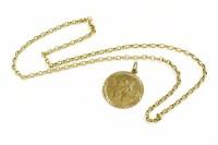 Lot 39 - A 9ct gold belcher chain