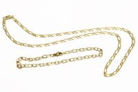 Lot 31 - A 9ct gold fetter link chain