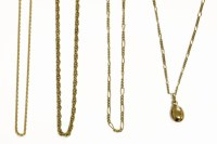 Lot 67 - Five assorted gold charms and pendant