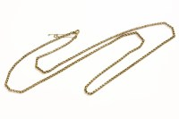 Lot 62 - A gold faceted belcher link chain