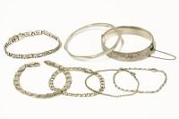 Lot 69 - A silver hinge bangle