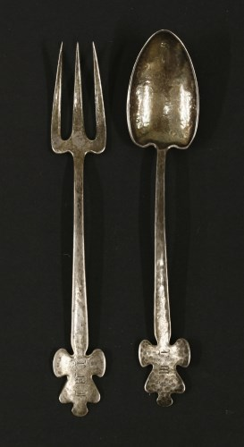 Lot 6-A silver fork and spoon