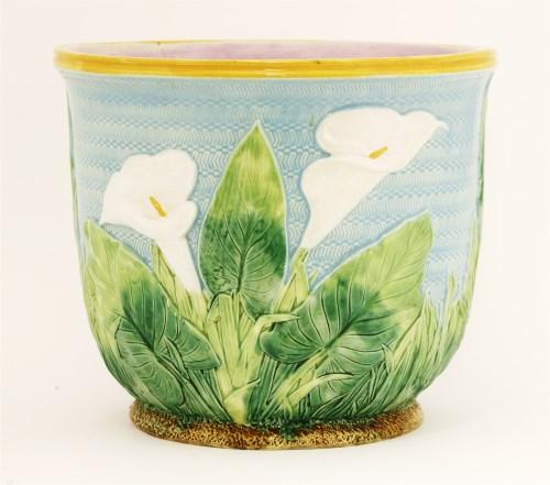 Lot 23-A George Jones majolica pottery jardinière