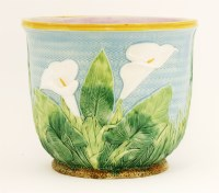 Lot 23-A George Jones majolica pottery jardinière