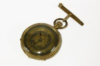 Lot 77 - A Continental 18ct gold fob watch