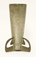 Lot 41-A Liberty and Co. pewter vase
