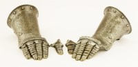 Lot 8-A pair of German(?) fingered gauntlets
