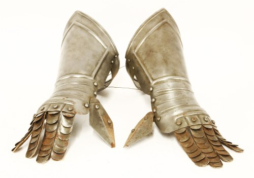 Lot 12-A pair of armour gauntlets