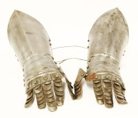 Lot 15-A pair of armour gauntlets