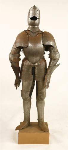 Lot 22-An engraved suit of armour