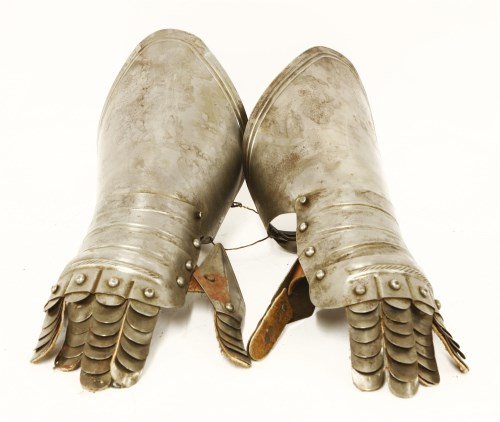 Lot 23-A pair of armour gauntlets
