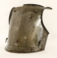 Lot 26-An iron breastplate
