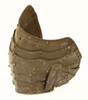 Lot 27-An articulated pauldron