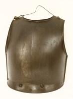 Lot 34-An heavy iron breastplate