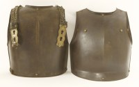 Lot 37-An armour breast and backplate