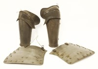 Lot 40-A pair of armour elbow and forearm pieces