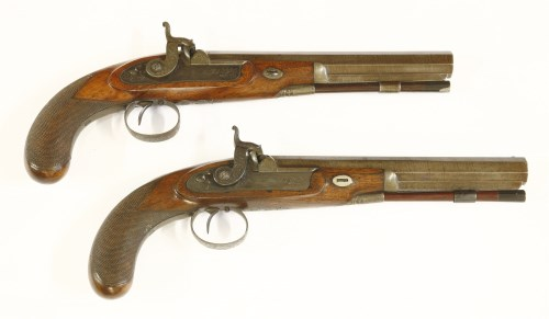 104 - A pair of percussion duelling pistols