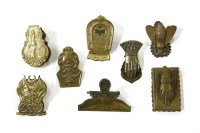 Lot 57 - Eight late Victorian and Edwardian brass letter clips