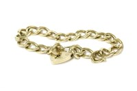 Lot 2-A 9ct gold curb link bracelet