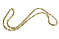Lot 18-A 9ct gold uniformed hollow herringbone necklace