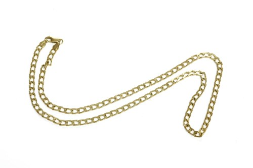 Lot 30 - An Italian 9ct gold filed curb link necklace