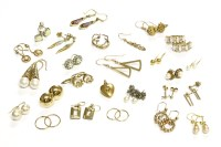 Lot 34-A collection of twenty six pairs of earrings