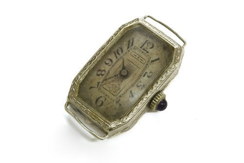 Lot 33-An American ladies Art Deco mechanical watch head movement
