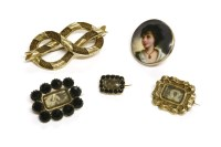 Lot 51 - A collection of Georgian and later brooches
