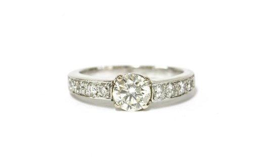 Lot 48-A single stone brilliant cut diamond ring
